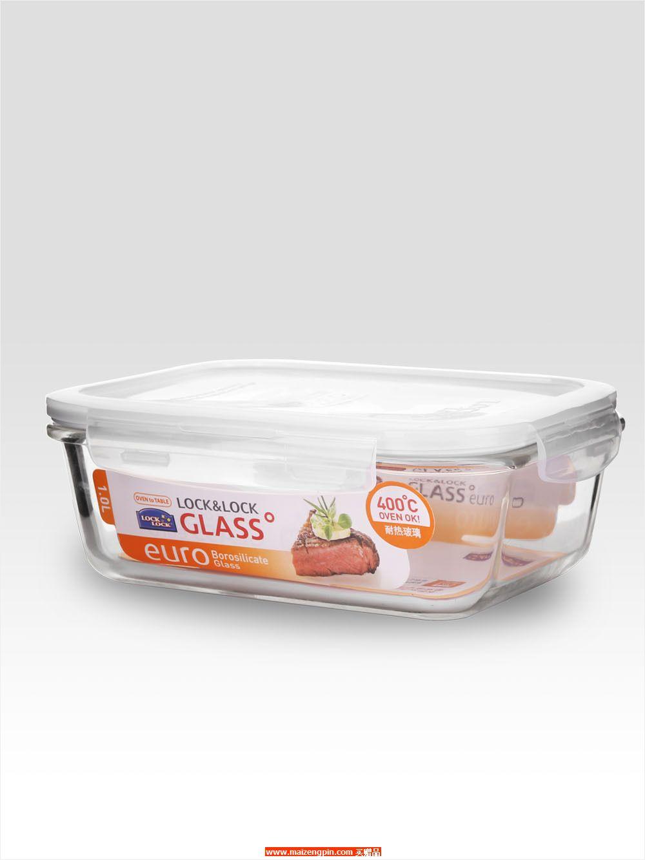 LLG 445FU 耐热玻璃长方形保鲜盒1L