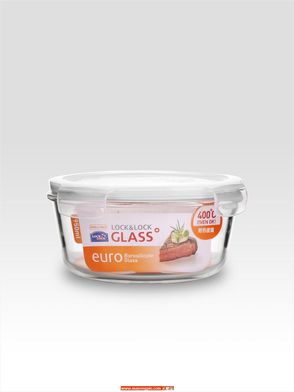LLG 861FU 耐热玻璃圆形保鲜盒950mL
