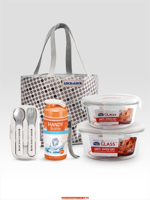 LLG 902FU 耐热玻璃保鲜盒 欢畅提袋套装