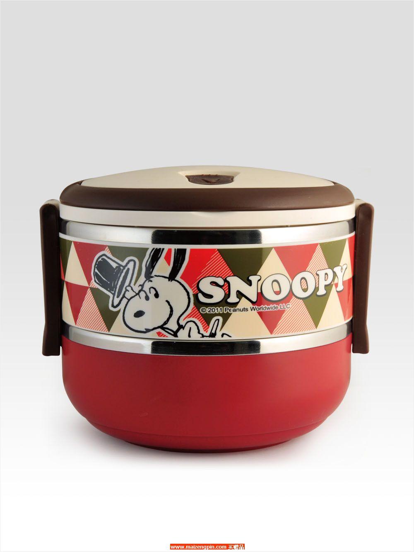 SP-E406史努比快乐时光双层不锈钢餐盒