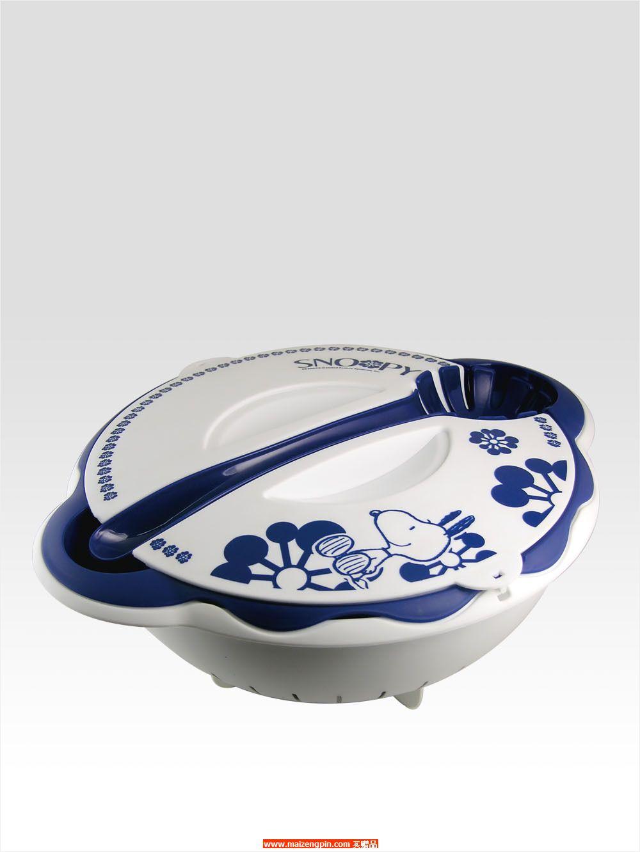 SP-C307史努比蓝色花语沙拉碗