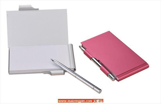 【高信誉厂家直销】精品金属便签本/创意文具/带笔可撕/方便携带