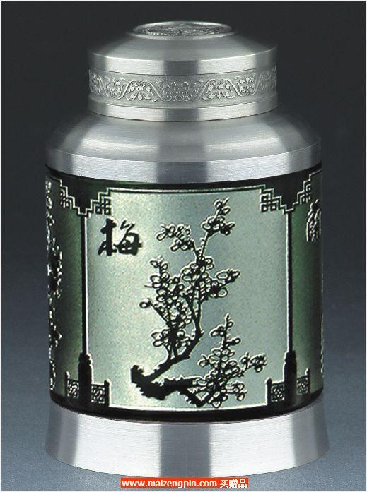 《四君子》小号水晶茶叶罐