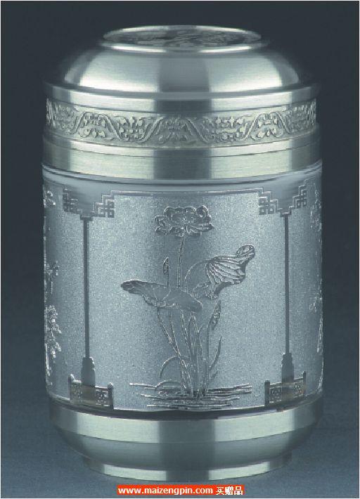 《四季常青》小号水晶茶叶罐