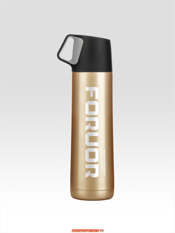 FU-A301 FU 金银物语提手不锈钢真空保温杯(大)