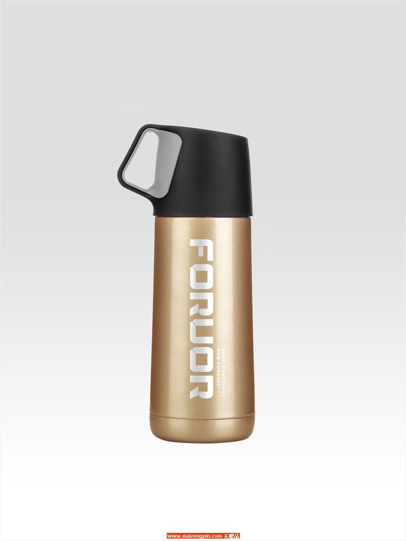 FU-A302 FU 金银物语提手不锈钢真空保温杯(小)
